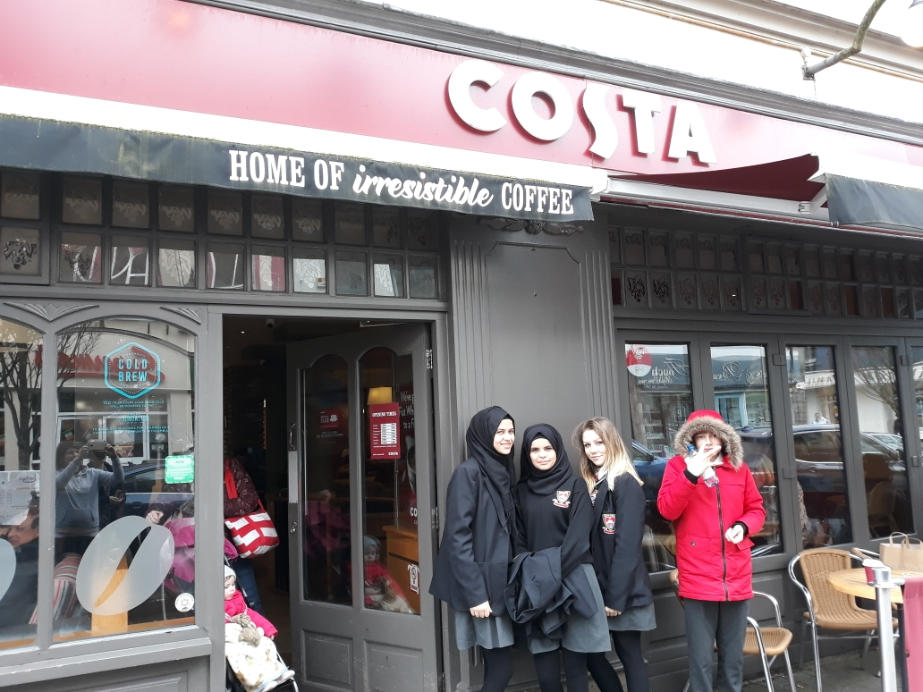 EAL students at Costa Coffee